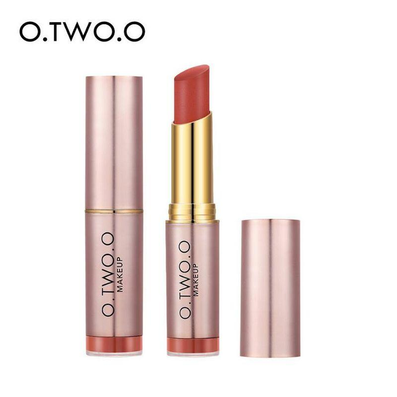 O.TWO.O Matte Nude 12 Colors Makeup Lipstick Sexy Red Velvet Ruby Rose Lip Stick Long Lasting Nutritious Lip Tint