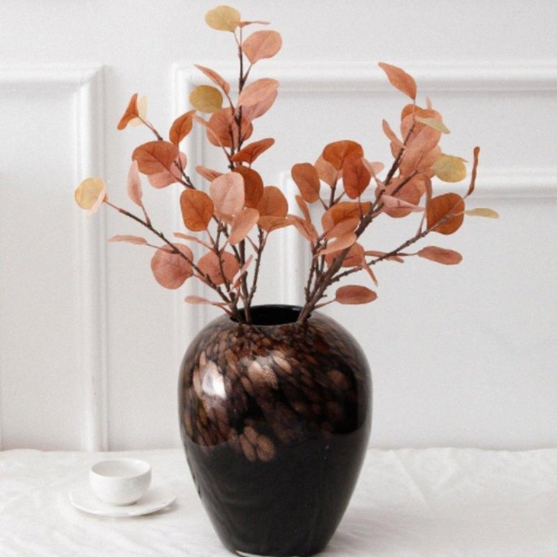 Yapay Plastik bitki Okaliptüs yaprakları Şube Para çimen ev dekoratif sahte çiçek Kapalı saksı dekorasyon 89Jh #