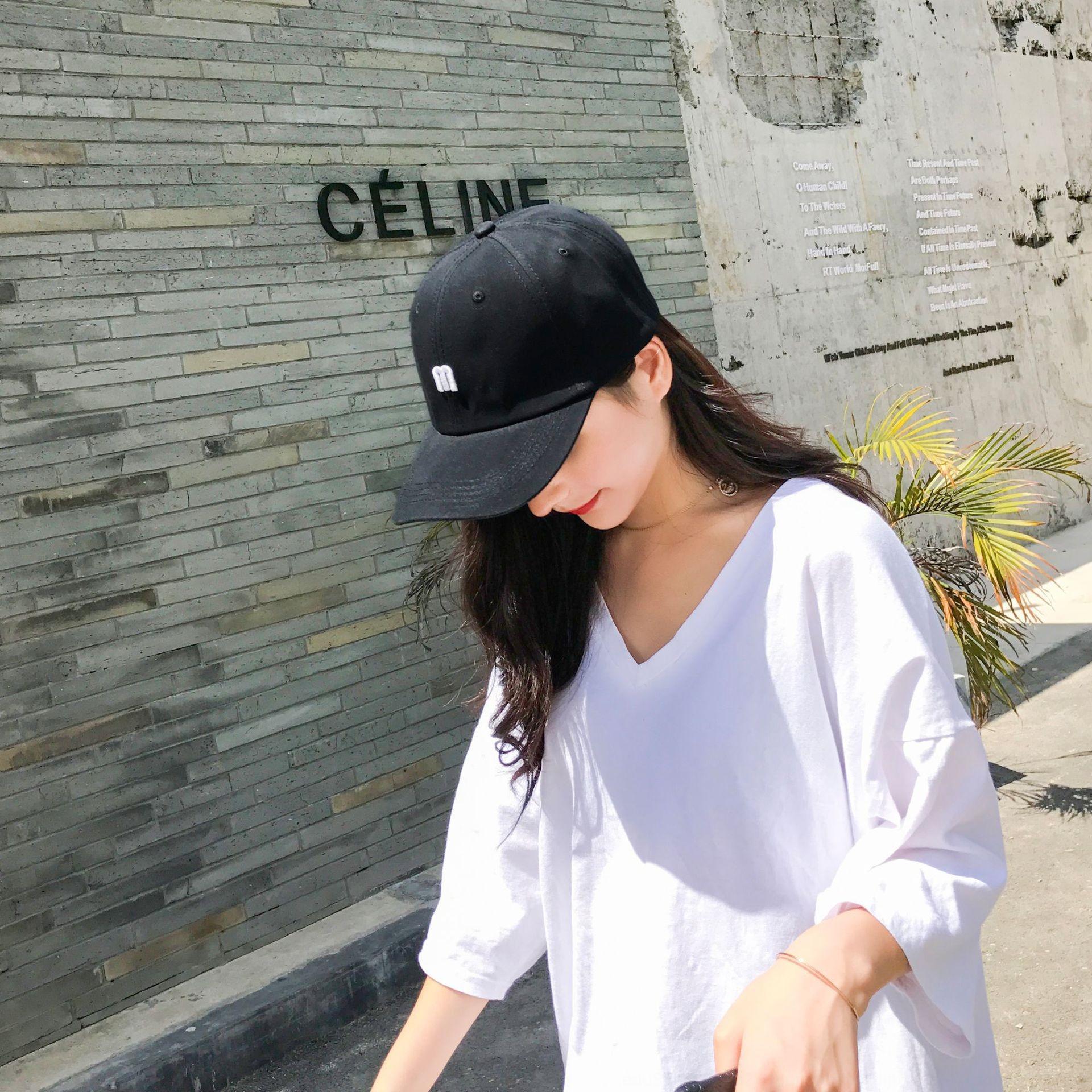 Yeni Koreli gölge kadın yaz yaratıcı yeni açık beyzbol güneş şapkası beyzbol şapkası güneş şapkası çift rahat güneş kremi kapağı