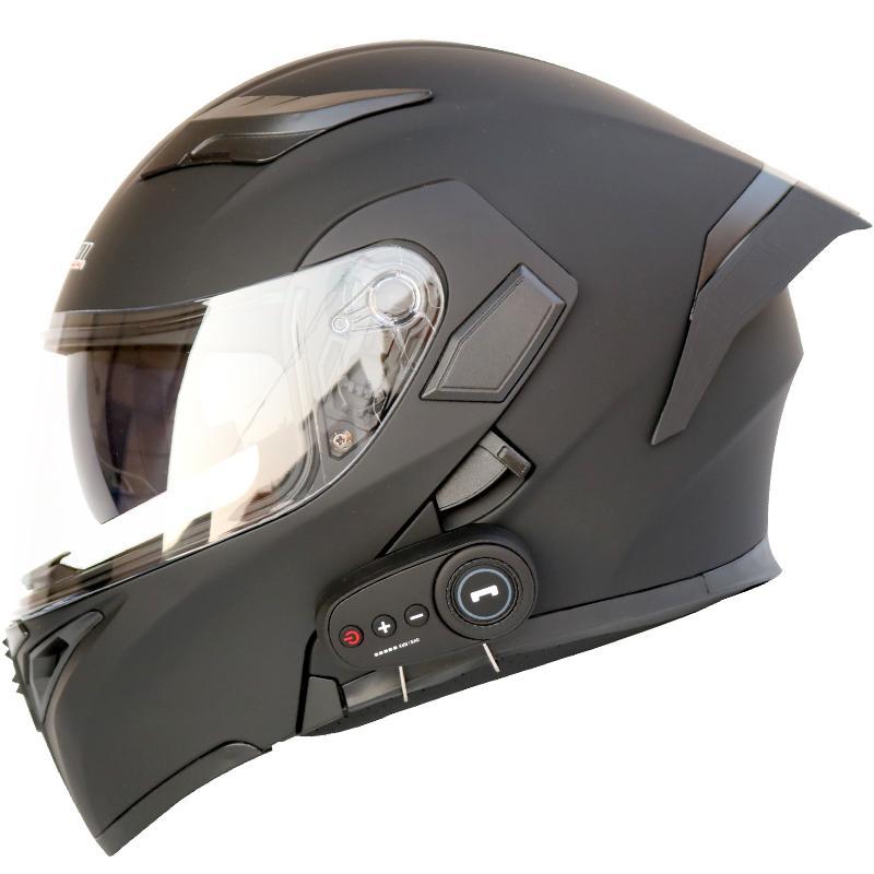 Мотоцикл шлем мотоцикла Bluetooth шлем электрический автомобиль 1200 мАч срок службы батареи