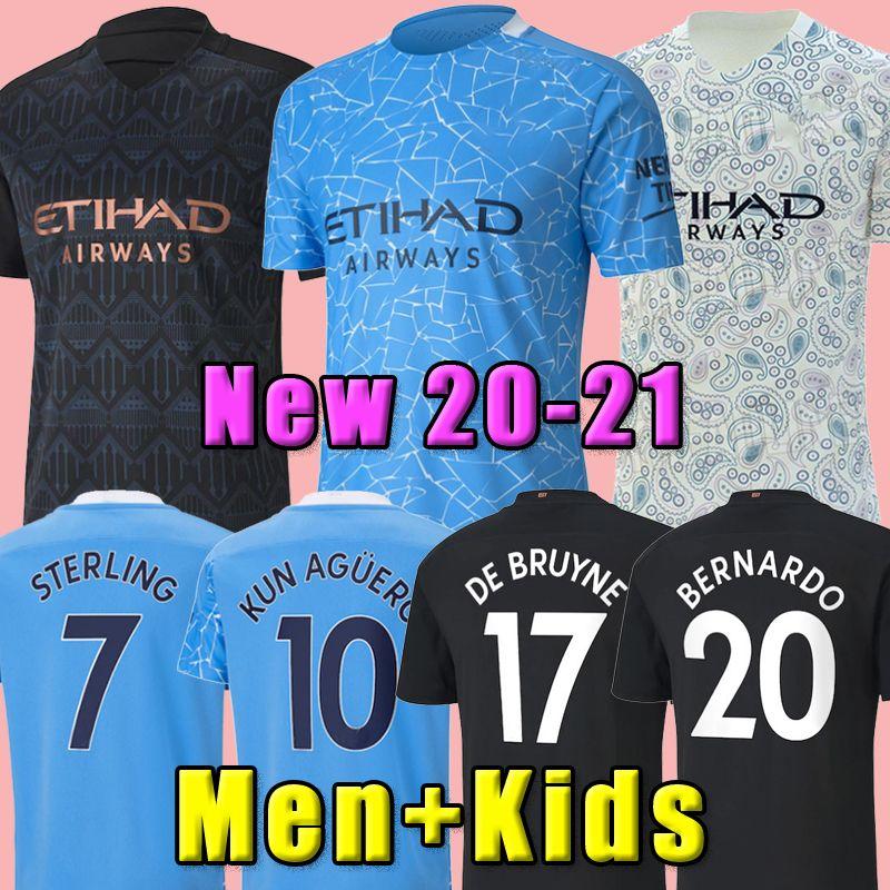 NUEVO 20 21 STERLING De Bruyne KUN AGUERO FC Manchester fútbol jersey city 2020 2021 SANE camiseta de fútbol JESÚS hombres + los niños equiparla a su país con uniforme