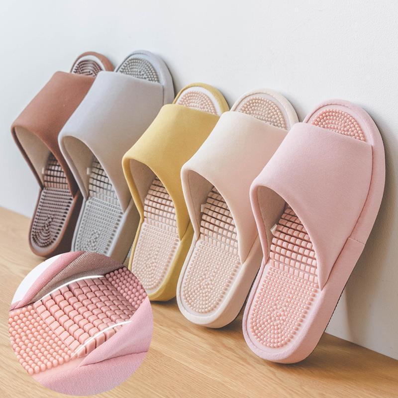 Chaussons de massage Acupoint d'intérieur non glaciolé pour hommes Femmes 2020 Cotonlinen accounten Chic Designers Plateforme Chaussures
