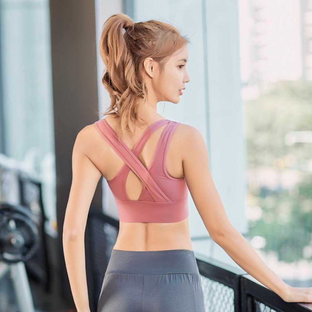 Новые спортивные U-образного вырез Рекламы Денег Нижнего белья плеча бюстгальтера женщин молнией поперечного плечевого ремня без стального кольца фитнеса лифчика