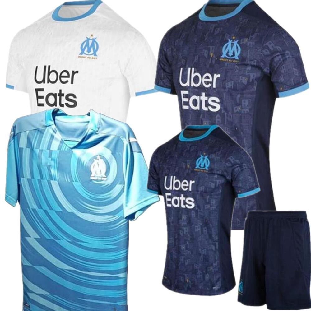 Maglia Maillot OM Olympique de Marseille Calcio 2020 2021 Marsiglia Maglia piede BENEDETTO PAYET L GUSTAVO 20 21 THAUVIN shirts + Kids kit