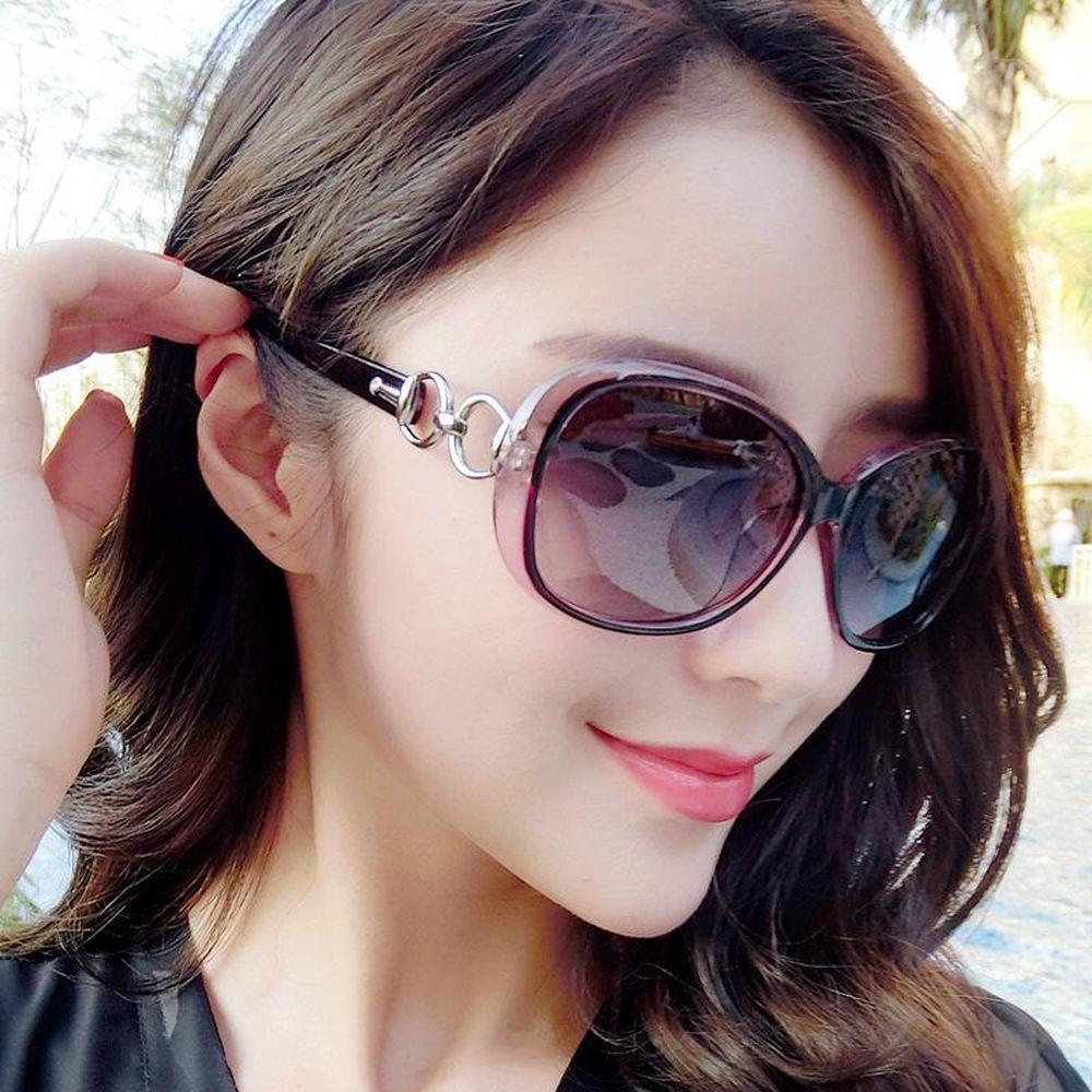 Mulheres anti-UV Óculos e óculos de sol quadro branco moda preto luxo ao ar livre BPWAL