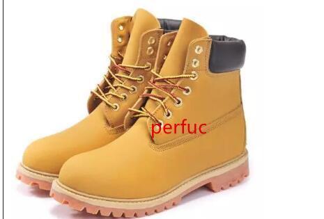 Moda Uomo 6 occhielli 6-Inch Premium Scarpe Stivaletti all'aperto Lavoro escursioni invernali Snow Boots per gli uomini multi colori E1