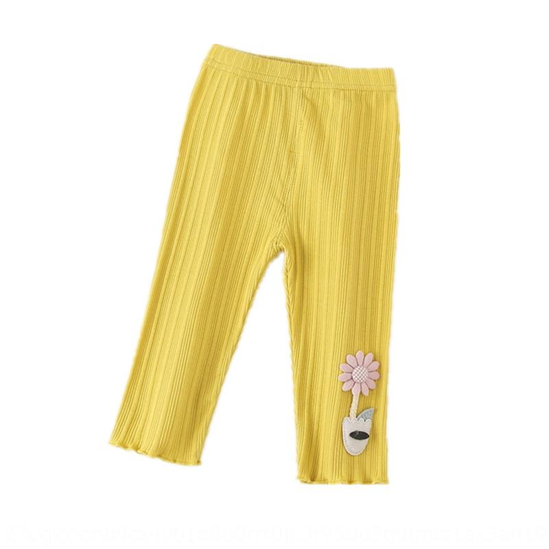 2020 Summer girls' new cotton girls' leggings thin Korean style children's Capri tight pants Trousers tight pants pants