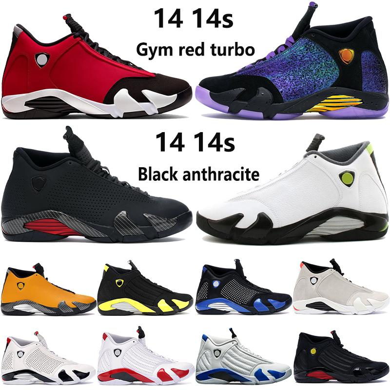Neue Ankunft 14 14s Jumpman Basketballschuhe Doernbecher schwarz multi color Turnhalle rot Turbo INDIGLO Outdoor Herren Sneakers Turnschuhe US 7-13