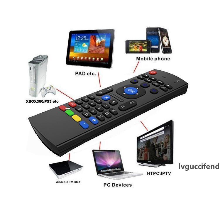 X8 미니 무선 키보드 플라이 에어 마우스 MX3 MXQ M8 M8S M8N M95 Amlogic S905 5.1 안드로이드 TV BOX 미디어 플레이어 원격 MIC 콤보 G-센서