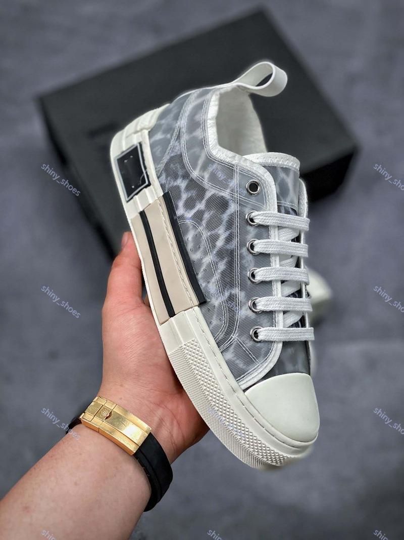 telas tecnológicas xshfbcl Nueva 19SS oblicuas alta ayuda zapatos casuales zapatos de luxe PROGETTISTA B23 para mujer para hombre de la moda del tamaño 35-44 Zapatos casuales