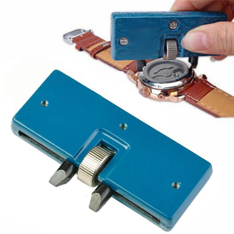 Coperchio posteriore Due Artiglio Tabella chiave Guarda attrezzo aperto regolabile rettangolare di rimozione della chiave di riparazione della vigilanza Tool Kit regolatore 52 millimetri di calibro