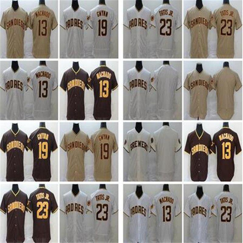 2020 NOVO New Fernando Tatis Jr 23 Manny Machado 13 Tony Gwynn 19 Eric Hosmer Brown jersey Baseball Jerseys