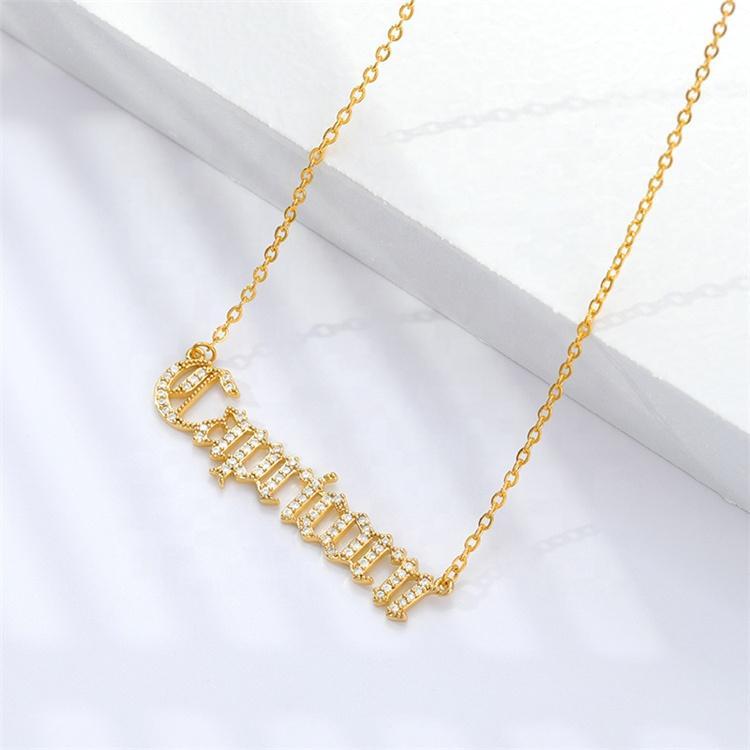 Designer personalizado estilo vintage mulheres jóias 18k real banhado a ouro signo do zodíaco pavimentar pingente inlay colar de zircão brilhante