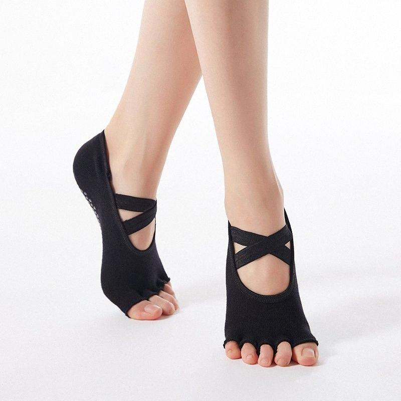 Frauen-Qualitäts-Verband-Yoga Socken Anti-Rutsch-Quick-Dry Damping Pilates Ballett Socken Guter Grip für Frauen Cotton Lx4i #
