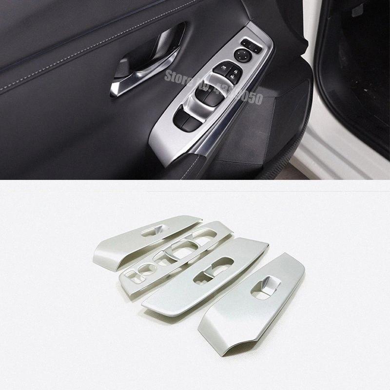 ABS Mate / fibra de carbono Para Sentra 2020 Ascensor Accesorios LHD ventana de la puerta de cristal interruptor de control Panel de ajuste de la cubierta del coche de deportes interior Truc vb55 #
