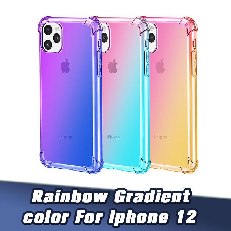 Effacer TPU Téléphone Couverture anti-rayures antichocs Slim Phone Case pour IP12 5.4 6.1 IP11 ProMax 8P