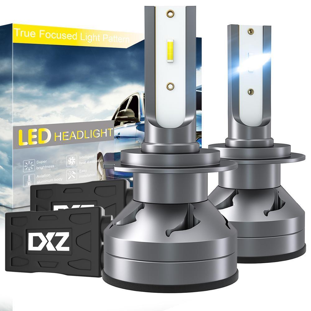 Winsun Auto-LED Scheinwerfer-Birnen H7 Abblendlicht Pure White Hell Nebelscheinwerfer Umrüstsatz 60W 12000lm 2er-Pack
