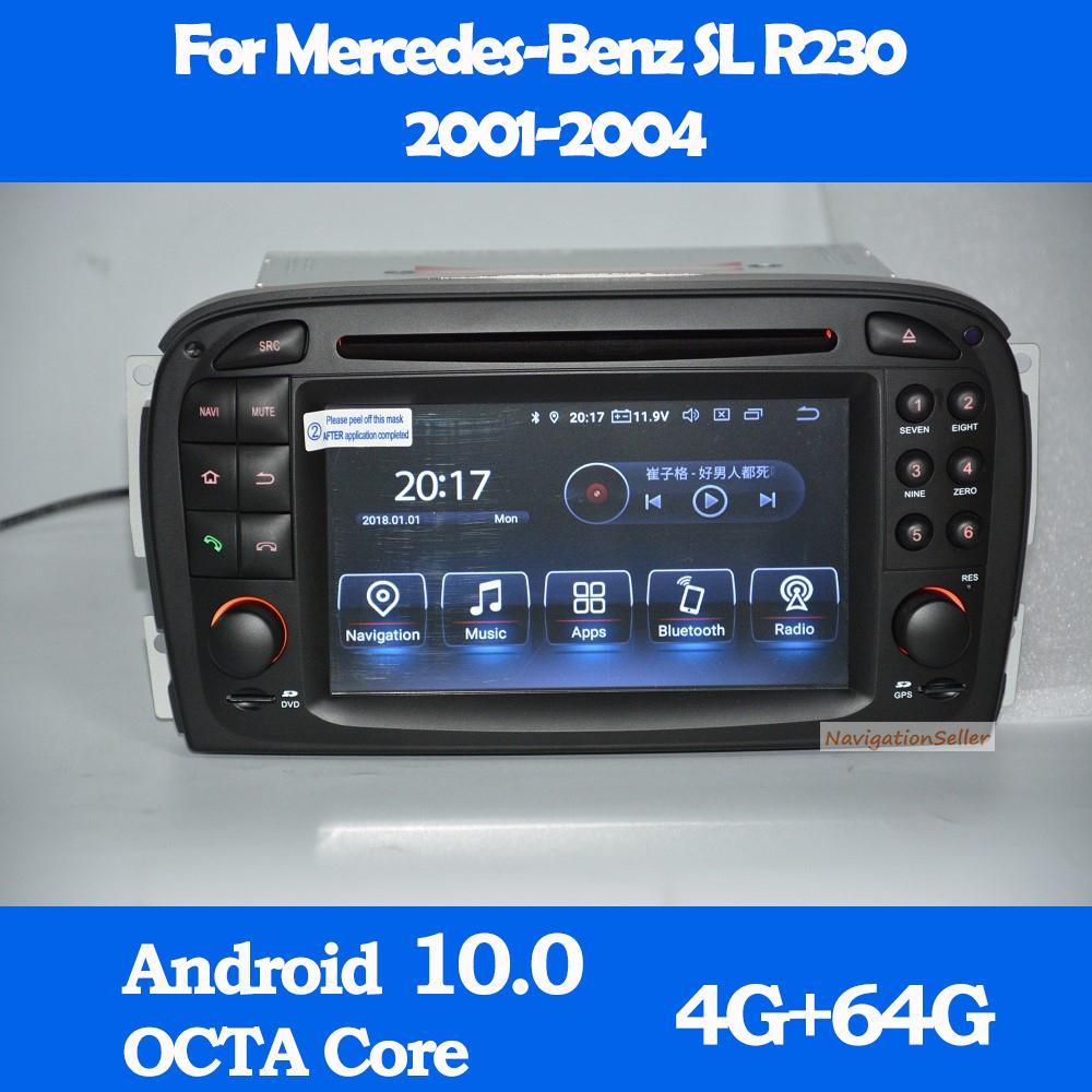 Android 10.0 Lecteur DVD de voiture GPS pour Mercedes Benz SL-Class SL350 R230 SL55 SL500 SL550 2001-2005 Radio Stéréo Audio Bluetooth Multimédia Navigation Wifi Sat Navi Dab +