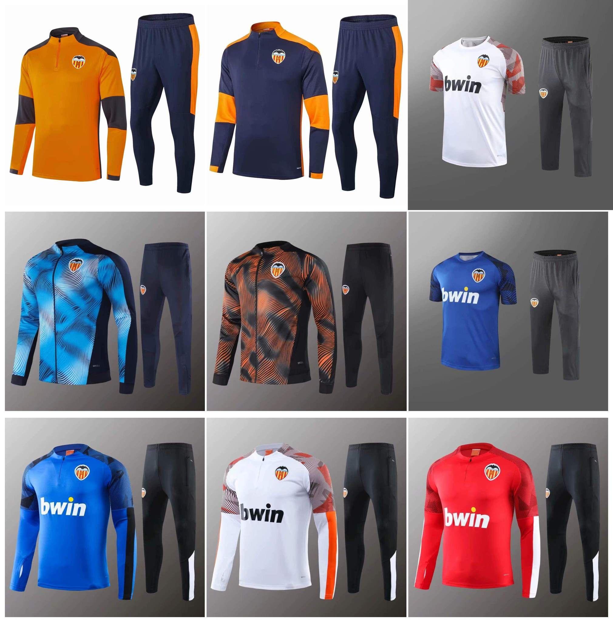 2020 2021 Valencia fc fato de treino para homem PAREJO Camisa de futebol GAMEIRO men chandal 2020/21 Valencia Entrenamiento fato de treino para adulto