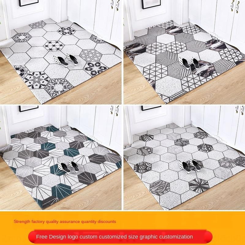 sol nordique simple, grand espace domestique peut être tapis de sol découpé porte d'entrée librement plastique tapis de sol