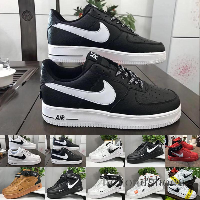 discount 1 Dunk Men Women Flyline Running Shoes,Sports Skateboarding Ones Shoes High Low Cut White Black Casual Trainers Sneakers HU-9C