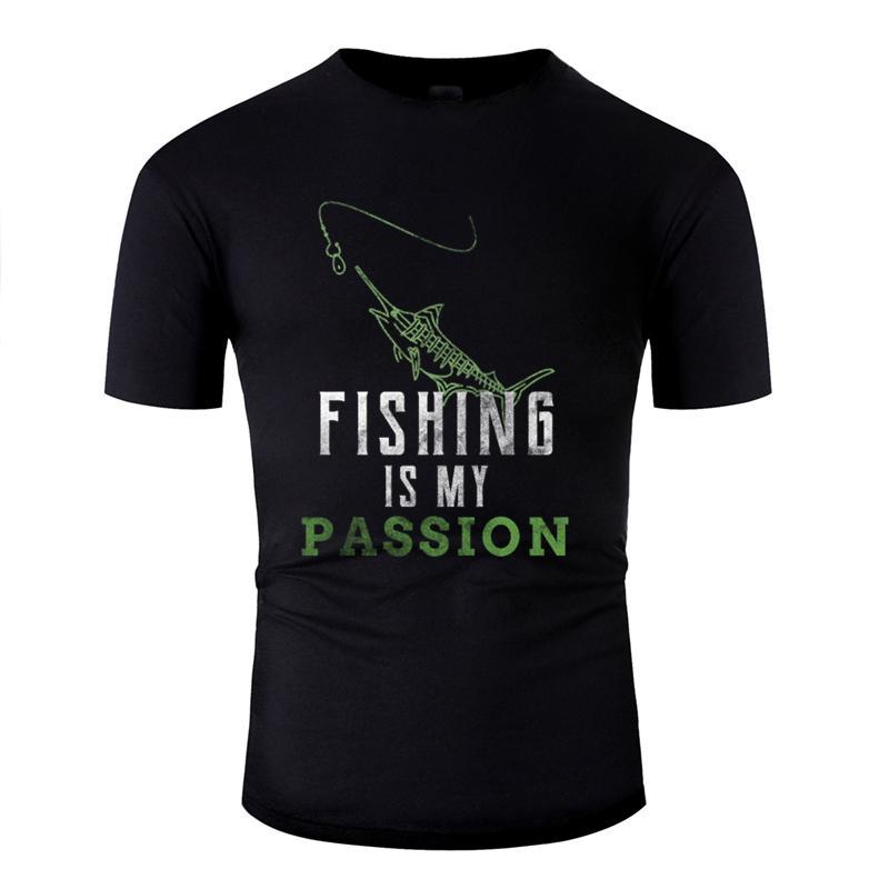 Nueva respirable del verano Pesca Pescado camiseta 2020 patrón de la moda Camiseta de Hip Hop Humorístico de manga corta