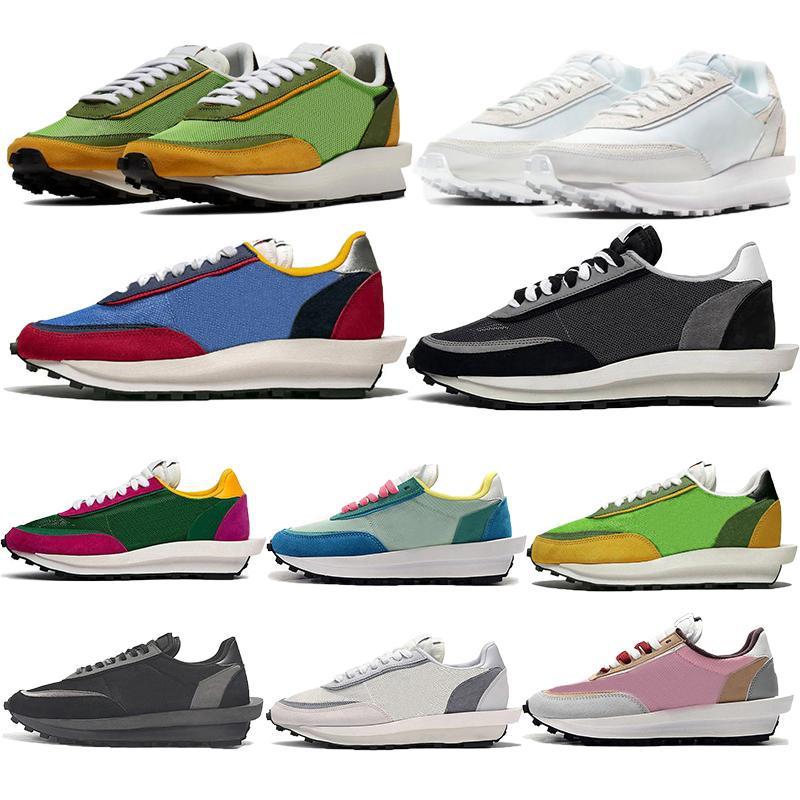 2020 أعلى بيع xSacai LDV دينار الهراء شبكة العليا الرجال النساء الاحذية أسود أبيض من النايلون خضراء متعددة المدربين الرياضة أحذية رياضية