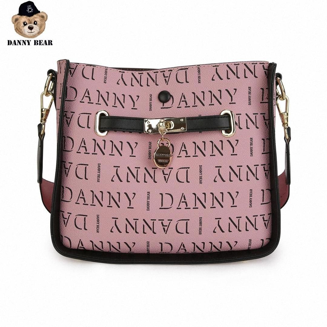Danny Bär Brief Seires Causal Tages Rosa-Schwarz-Umhängetasche Tasche Schultertasche Bucket DTB9916012-205X MDV1 #