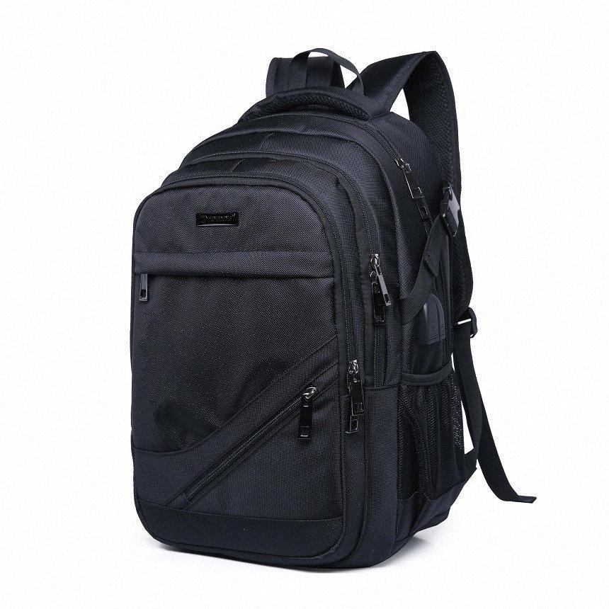 Mens Black School Bags Business Backpack Waterproof Large Bagpack Rucksack Back Pack Male Laptop Bag School Bags High Capacity Backbag PgJK#