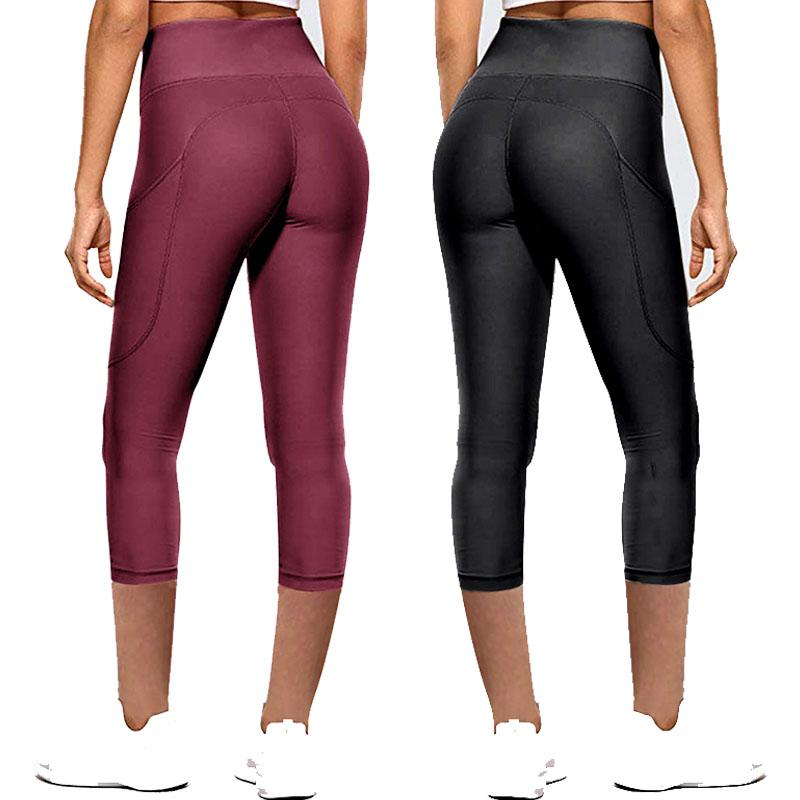 Women High Waist Leggings Push Up Sports Yoga Pants Pocket Gym Workout Tights Ladies Gym Leggings Sexy Casual Pants Women Skinny 050715