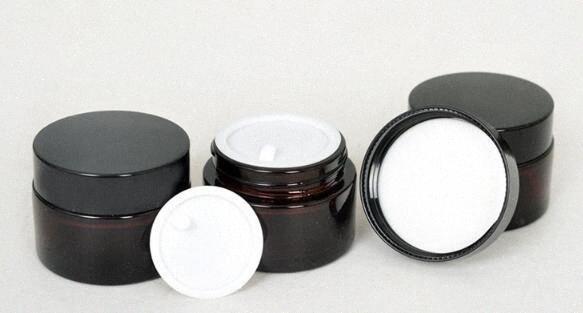 Kahverengi Amber Cam Krem Kavanoz Siyah Kapak 5 10 15 20 30 50 100 G Kozmetik Kavanoz Paketleme Numune Göz Kremi IeMx #