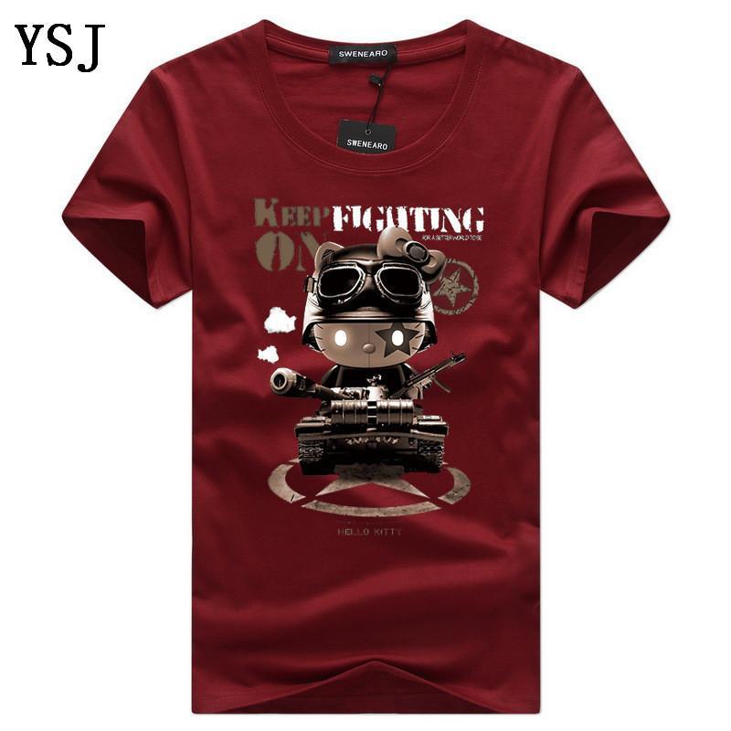 T-shirt dos homens Casual O-Neck manga curta Imprimir engraçado camisetas marca de moda Homens verão camisetas Homme Tops Tamanho 5XL C-6