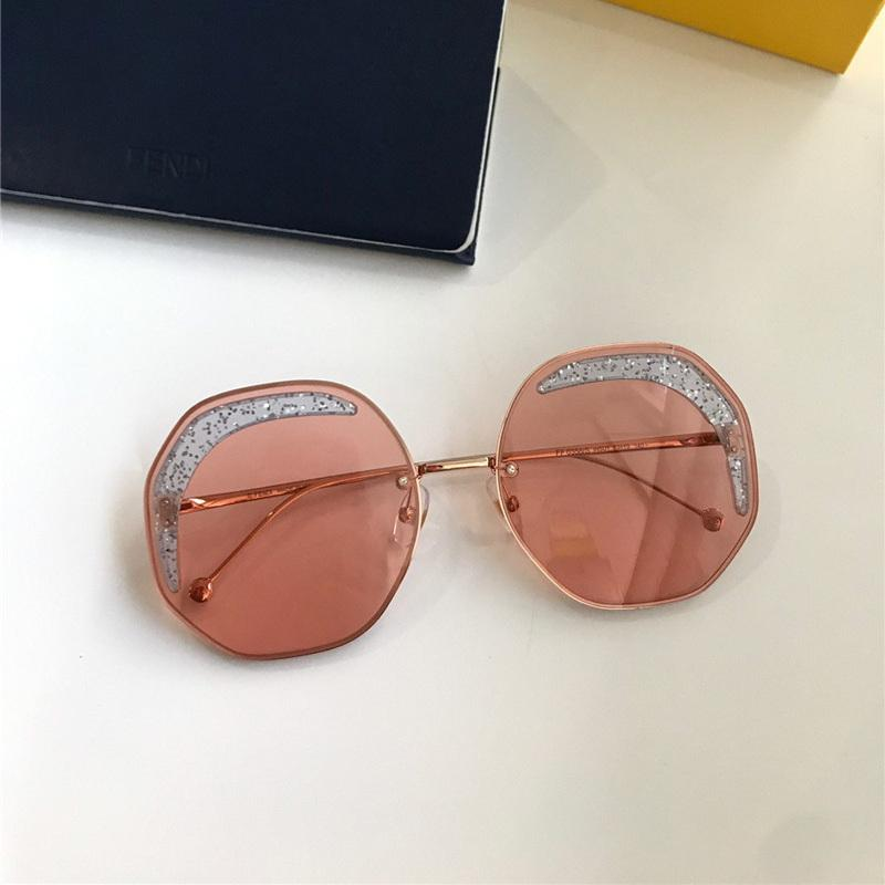 Top gafas de sol para el marco de la vendimia de las mujeres Polígono de Protección Especial mujer más alta calidad gafas de sol famosa tenperament 0358