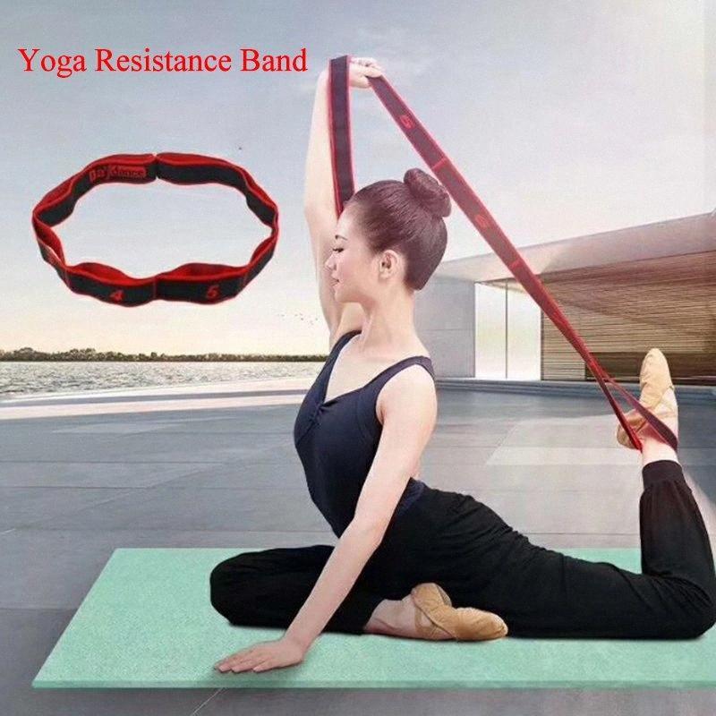 2020 2020 Новое упругое сопротивление диапазона Прицепные ремень Спорт Йога Фитнес упражнения Женщины Человек Латинские танцы Бодибилдинг Stretch пояса iI4T #