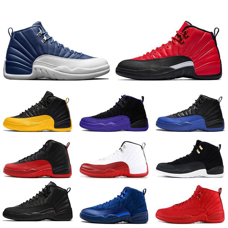nike air retro jordan 12 2020 Stone Blue 12 Reverse Flu Game 12 12s Jumpman chaussures de basket-ball pour hommes XII top qualité University Gold baskets en cuir baskets