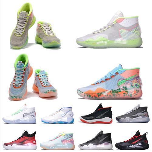 2020 New Kevin Durant 12 Chaussures de basket-ball Hommes Durant 12 médailles d'or / Championnat MVP Finales de sport Chaussures de formation Sneakers Chaussures de course Taille 7-12