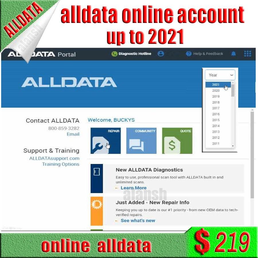 2020 최신 ALLDATA + 미셸 자동차 수리 소프트웨어 온라인 계정 등록기하지 필요한 하드 디스크 지원 스마트 폰 패드 검색