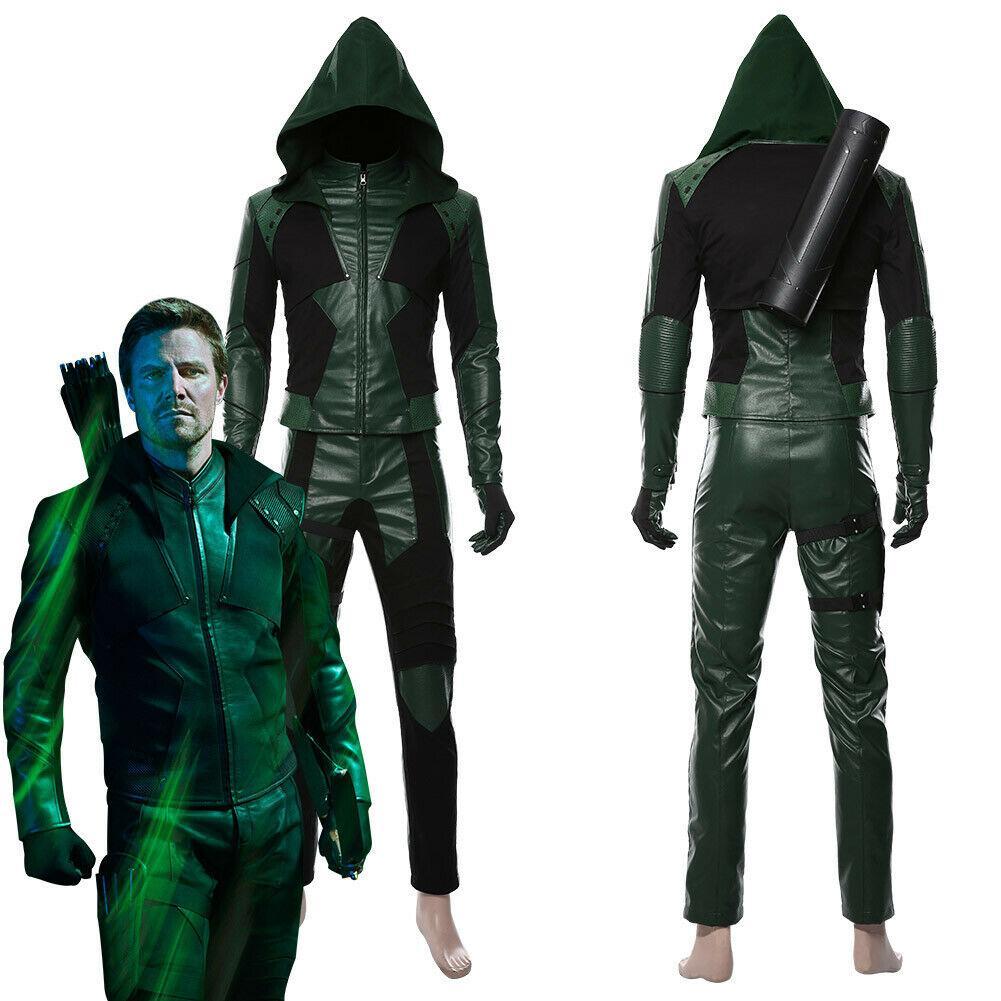 Green Arrow Season 8 Oliver Queen Cosplay qualquer tamanho
