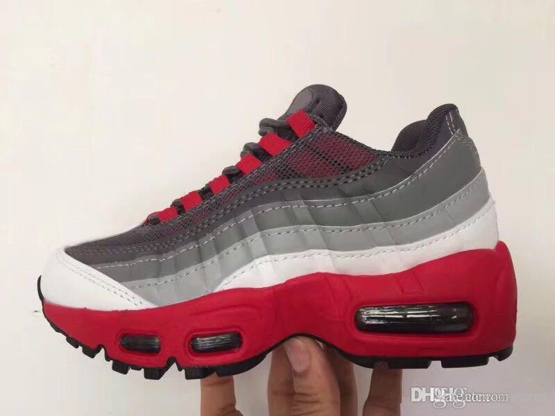 Bambini OG 95 Essential fitness scarpe da corsa habanero rosso nero bianco lupo grigio ragazze ragazzi bambino bambino bambino sport croce 95 sneakers