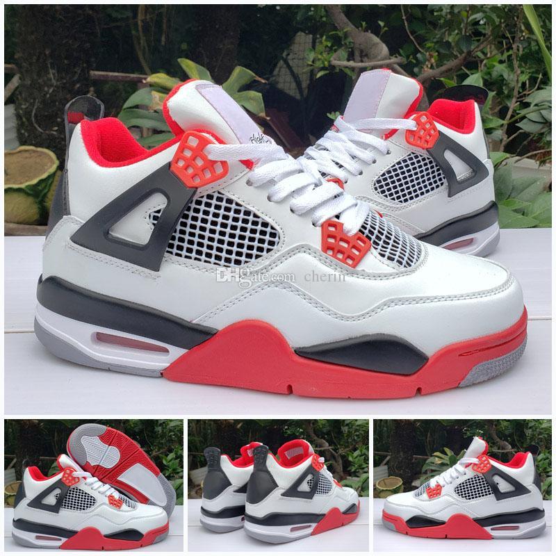 2020 Nuevo 4 Lo que el Jumpman 4s Blanco Rojo la mejor calidad OG GRIS Negro zapatillas de deporte zapatos de baloncesto del hombre de los hombres del tamaño 41-47 envío libre