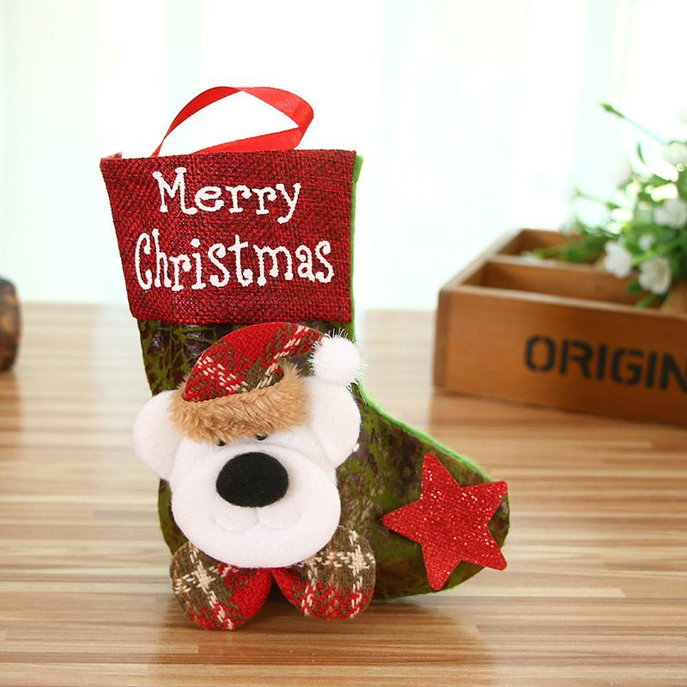 New Merry Christmas Gifts Candy Beads Brushed Wool Christmas Santa Claus Candy Socks Home Patry Decorations Enfeites De Natal#15 Q8iO#