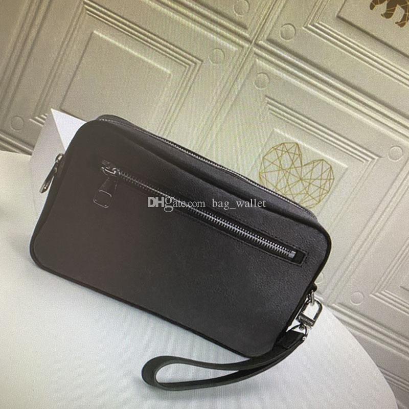 Kasai Strap Sacos para Homens Moda Classic Designers Bag de Embreagem Mulheres Coated Lona Couro Pulso Wrist Kits Wallet Luxurys Totes Bolsas Mulheres Embreagens