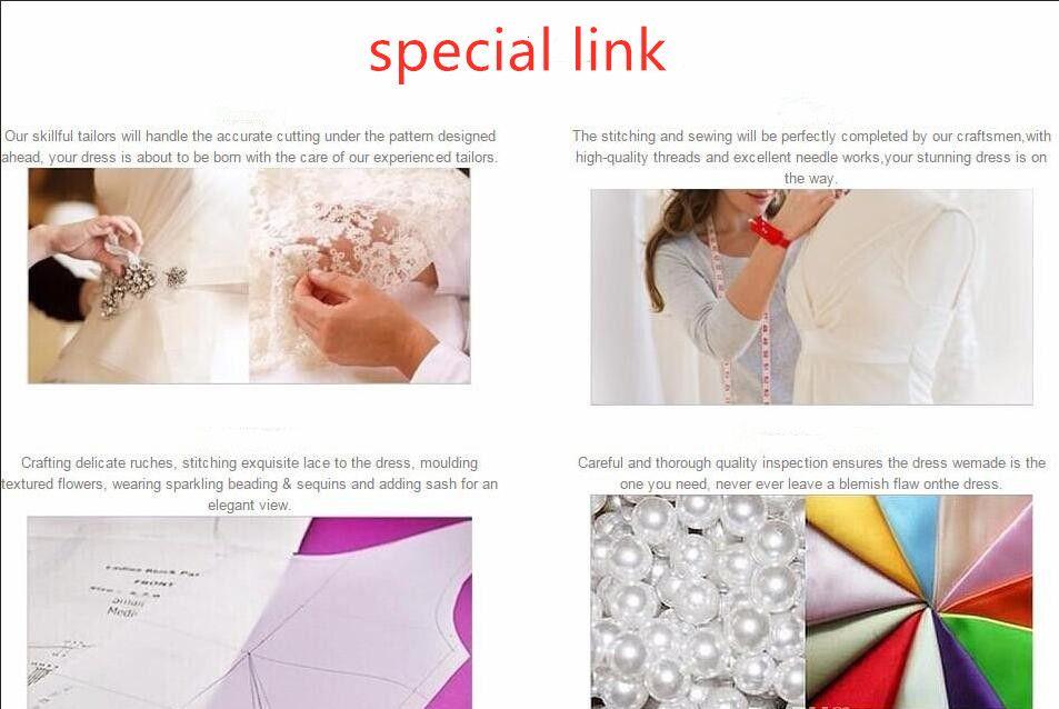ligação para taxas de materiais especiais apressar fim plus size ou costume especial feito vestidos de noiva