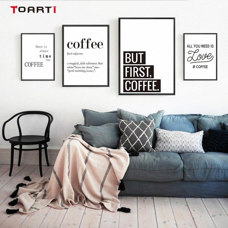 Compre Coffee Quotes Posteres Prints Moderna Da Lona Pintura Na Parede Amor Art Cafe Para Cozinha Sala Home Decor Familia Presente 5jbu De Walmarts 243 93 Pt Dhgate Com