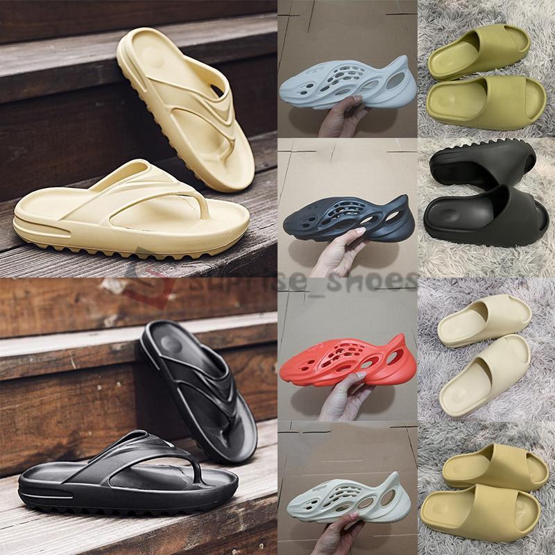 Stock X Adidas Yeezy Schiuma Runner Sandalo Kanye diapositive Fashion Designer pantoufle diapositive Deserto di sabbia Bone Black Resin Terra Mens Donne Slipper