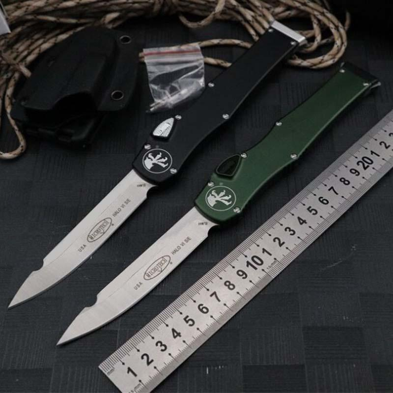 Automatic knife Microtech Outdoor knife 150-10 HALO V 6 ELmaterial Aluminum alloy handle tactical camping Multi Functional Knife