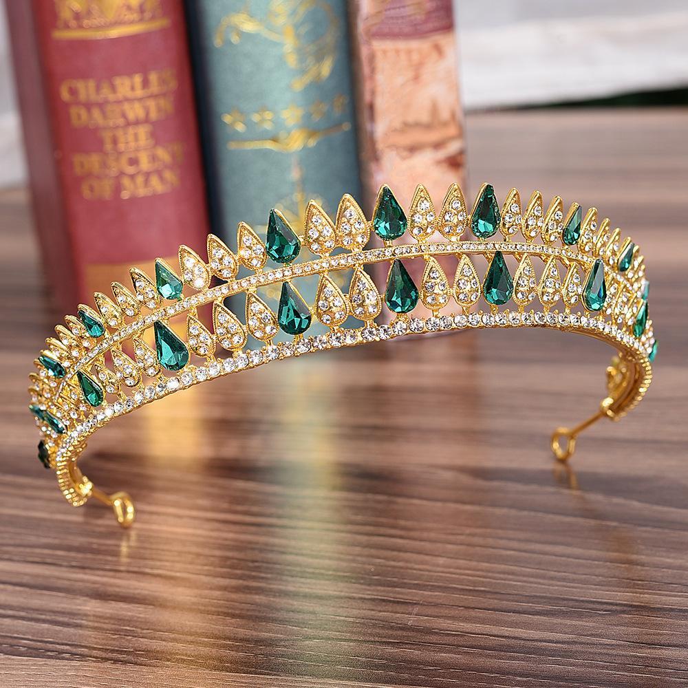 Diezi 5 Couleur coréenne de luxe Couronne de mariée mariage Accessoires cheveux cristal Couronnes Diadèmes Diadem filles Coiffe Bandeaux MX200720