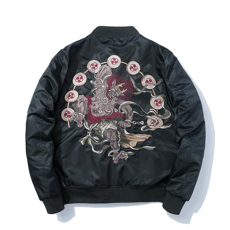 marchio prajna ricami moda collare appendiabiti baseball MA-1 amanti di volo del vestito di baseball uniforme uomini giacca di Yokosuga