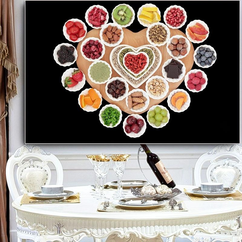 Modern Nordic Fruit and Vegetable Cozinha pintura da lona Posters escandinavos e Prints Art Pictures para Sala de jantar Home Decor