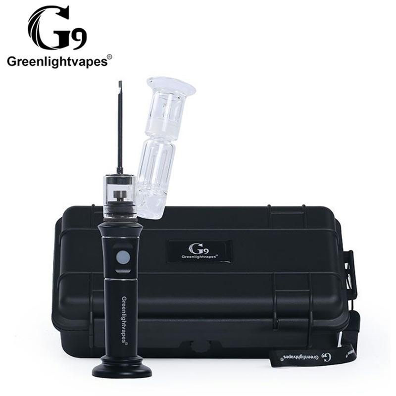 Newest update G9 henail plus 2500mah rechargable wax vaporizer pen bubbler glass bong dry herb vape pen with Quartz/ceramic/titanium bowl